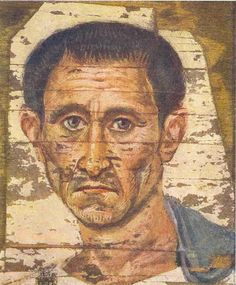 Modern looking Fayoum Portrait from the 1st Century BC, Pushkin Art Museum in Moscow