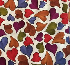 """Pretty Heart Fabric  Five - 6""""  Cotton Fabric Block Quilt Charm  5 Pieces  # 301-1075 by AlwaysInStitchesCo on Etsy"""