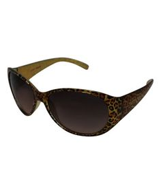 Leopard Classic Oval Sunglasses by Betsey Johnson