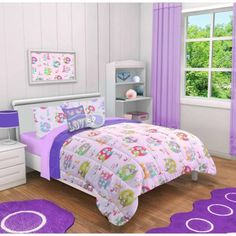 Mainstays Kids Foxy Time Comforter Set- 2 Decorative Pillows and Shams Included - Walmart.com