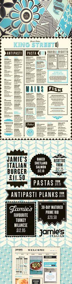 Jamie's Italian | Superfantastic | jamie oliver restaurant #identity #branding #pattern #typography