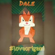 #origami #loveorigami #disney #chip #dale #cartoon #modular