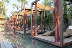 Floating cabanas at the Hotel Maya pool