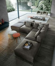 Place the sofas correctly in the living room - Design sofas living room - Couch Design, Living Room Sofa Design, Living Room Chairs, Living Room Interior, Home Living Room, Home Interior Design, Interior Architecture, Living Room Designs, Living Room Decor