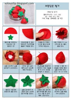 Como hacer fresas de fieltro | Solountip.com