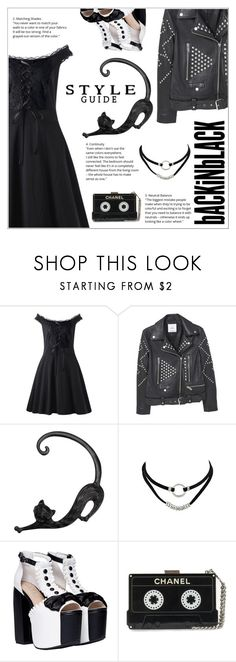 """""""Style Guide: Back in Black"""" by shambala-379 ❤ liked on Polyvore featuring MANGO"""