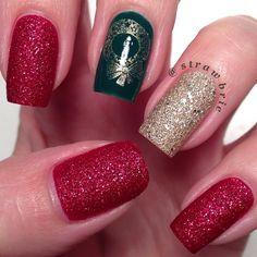 christmas by strawbrie #nail #nails #nailart