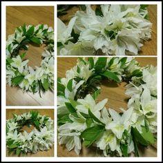 흰 철쭉 화환