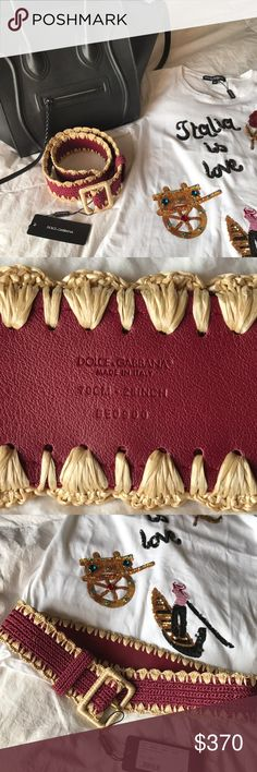 🏴SALE NWT Dolce & Gabbana Woven Leather Belt NWT. Gorgeous brand new with tags, Dolce & Gabbana Waist Belt. Fantastic luxurious item from the Runway collection. This is a corset style belt that has the woven raffia style characteristic for this collection. Seen on the runway and featured in many ad campaigns.                         🏴Offers Welcome🏴 Dolce & Gabbana Accessories Belts