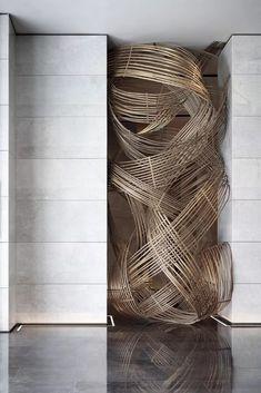 建E室内设计网 Pottery Sculpture, Wall Sculptures, Abstract Sculpture, Sculpture Art, Museum, Textiles, Installation Art, Art Forms, Wall Design