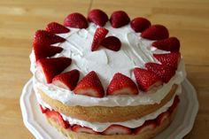 Strawberry Toppings Cream Cake