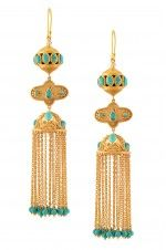 Silver Turquoise Creeper Earrings
