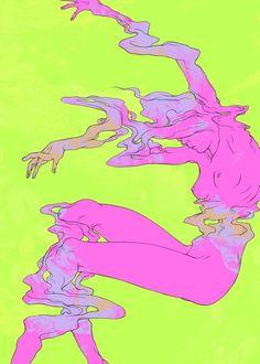 Fading Reality Dissolving - A gallery-quality illustration art print by Joanna Krótka for sale. Psychedelic Art, Art Hippie, Illustration Art, Illustrations, Arte Sketchbook, Wow Art, Grafik Design, Aesthetic Art, Oeuvre D'art