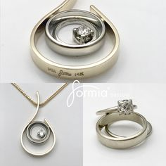 "Redesign grandparents wedding rings Memories and beauty in one piece! Emotions ran high when this pendant was picked up! Customers late parents wedding rings redesigned in theme ""simplicity and surrounded"" ❤️ Old Jewelry, Glass Jewelry, Jewelry Rings, Wedding Ring Necklaces, Wedding Rings, Wedding Vows, Bar Necklace, Dress Rings, Ring Verlobung"