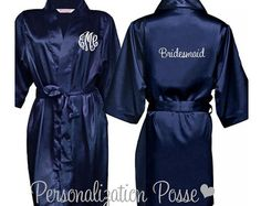 Blank Satin Robe by PersonalizationPosse on Etsy