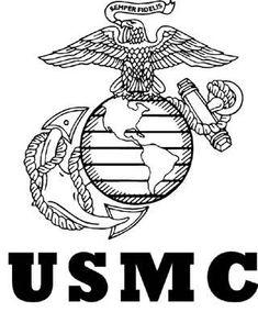 Usmc emblem black and white dress