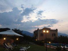 Swimming pool area by night. Villa Rica #Sicily