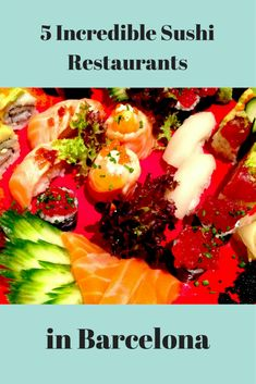 Looking for delicious sushi restaurants in Barcelona? Here are our top five suggestions of where to eat great sushi in the Catalan capital. Barcelona Restaurants, Sushi Restaurants, Vegetarian Options, Vegetarian Recipes, Spanish Cuisine, Spanish Food, Best Sushi, Barcelona Travel, Foodie Travel