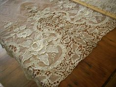 Antique+embroidered+salesman's+lace+sample+1880s+by+ToLacewithLove