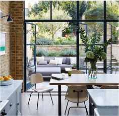 Buy Flowers Online Same Day Delivery Lucas Allen Photography, House and Garden Uk, London Kitchen Dining Room Terrace Steel Windows, Windows And Doors, Large Windows, High Windows, Black Windows, Steel Doors, Ceiling Windows, Interior Exterior, Interior Design
