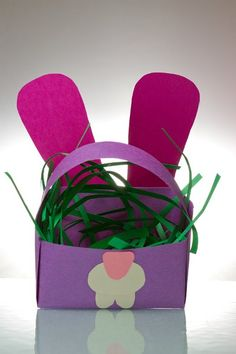 Paper Easter Egg Basket Craft