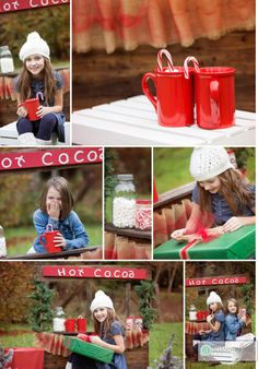 Adorable hot cocoa stand for Christmas mini sessions! www.shannonmaephotography.com