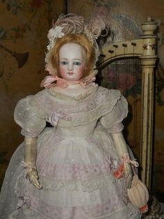 Beautiful French Bisque Poupee by Jumeau with Doll Shop Label