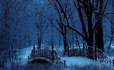 SEASONAL – WINTER – a new-fallen snow appears so peaceful, but still gives me the chills just looking at this winter bridge in warsaw, poland, photo via jan.