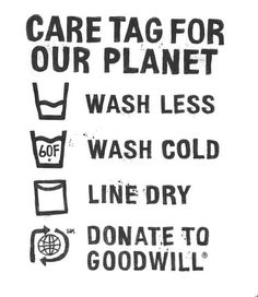 Take Levi's advice and donate unwanted clothes to #Goodwill