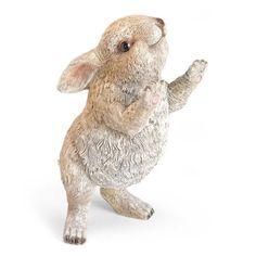 Rabbit Garden Sculpture Bunny Statue Outdoor Indoor Easter Lawn Figurine Patio  #Unbranded