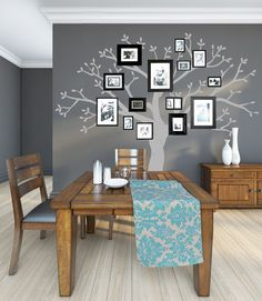 Family Tree Wall Decor | Family Tree Wall Decal vinyl photo trees decals buds leaf leaves decor ...