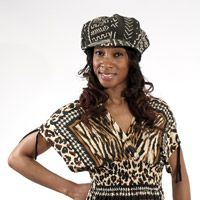 Mud Cloth Brimmed Tam Cap $11.95 Exceptionally Authentic Style A hand-made mudcloth hat is a perfect accent of Africa for anytime anywhere! Made in Mali. C-A038 Visit us at: africaimports.com
