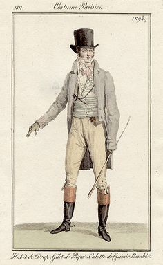 A handsome day outfit. Costume parisien, 1811