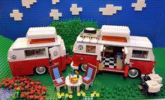Lego VW Camper and Trailer!