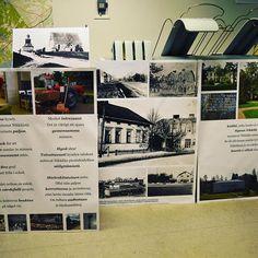 Yhteistyön tuloksia: näyttelyplanssit valmistuvat. Perjantaina näitä pääsee katsomaan kirjaston näyttelytilassa.  Resultatet av samarbetet: bilder till utställningen. Utställningen öppnar på fredagen i Nickby bibliotek.  #muistojennikkilä