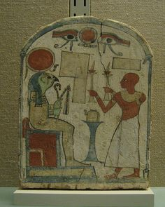 Funerary Objects of the Late Period:Osiris figure of painted wood Egyptian, Dynasty BC From Thebes, SHeikh Adb el Qurna. Ancient Egyptian Art, Ancient Mysteries, Arts Ed, African History, Gods And Goddesses, Statue, Doodle Art, Archaeology, Painting On Wood