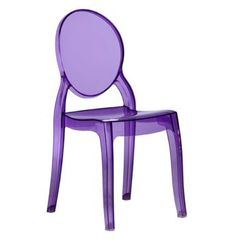 A purple lucite chair – just for kids