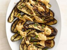 A simple peanut butter sauce adds a salty-sweet twist to grilled eggplant.