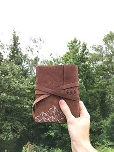 Mountain Leather Journal. Nature Lovers Leather Sketchbook - $70