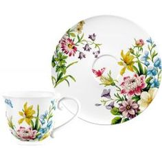 Taza + Plato Flores English Garden Katie Alice China Painting, Ceramic Painting, Ceramic Art, Plate Wall Decor, Plates On Wall, Fabric Paint Designs, Painted Plates, Plate Design, Painting Patterns