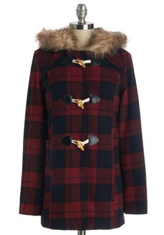 Medium. Hometown Tour Guide Coat. With mittens stashed in the front pockets of your wooly toggle coat, you lead your friends down the streets and sidewalks you know so well.  #modcloth