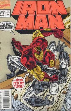 "and Other Enemies"" Unbagged Orange Logo Edition Marvel Comic Book Iron Man 310 B Iron Man Comic Books, Comic Books Art, Comic Art, Book Art, Comic Book Covers, Comic Book Heroes, Marvel Heroes, Marvel Vs, Marvel Characters"