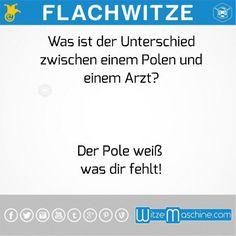 Flachwitze #14 - Unterschied Pole und Arzt - Polenwitze