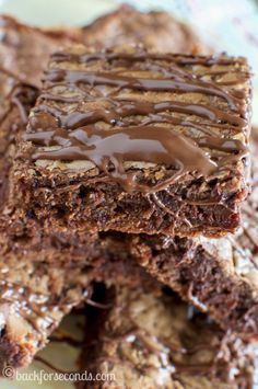 Chewy Chocolate Nutella Cookie Bars