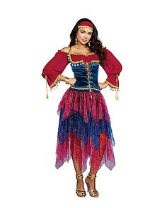 Adult Gypsy Costume - Spirithalloween.com  sc 1 st  Pinterest & Gypsy costumeThe Costume Shop Melbourne. | costumes | Pinterest ...