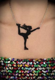 ICE SKATING NECKLACE - FIGURE SKATER - PERSPEX NECKLACE