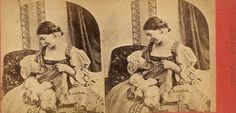 mother and baby by *jinifur #stereoscope #photography #vintage