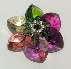 Swarovski crystals flower pendant