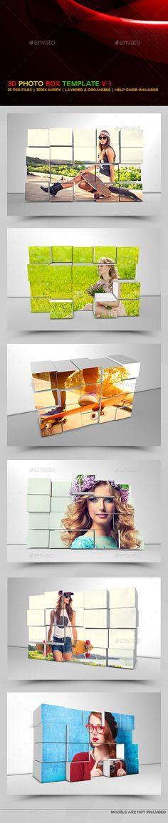 3D Photo Box Templates v3 #3d photo template #3d photo display Download : https://graphicriver.net/item/3d-photo-box-templates-v3/9059000?ref=pxcr