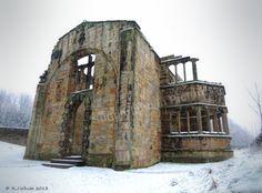 Hylton Castle chapel, Sunderland, England- covered in snow.